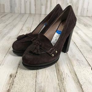 Vince Camuto Womens Footwear Brown Suede High Heel